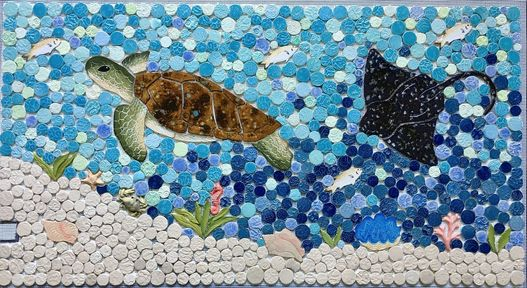 Custom Mosaic Turtles